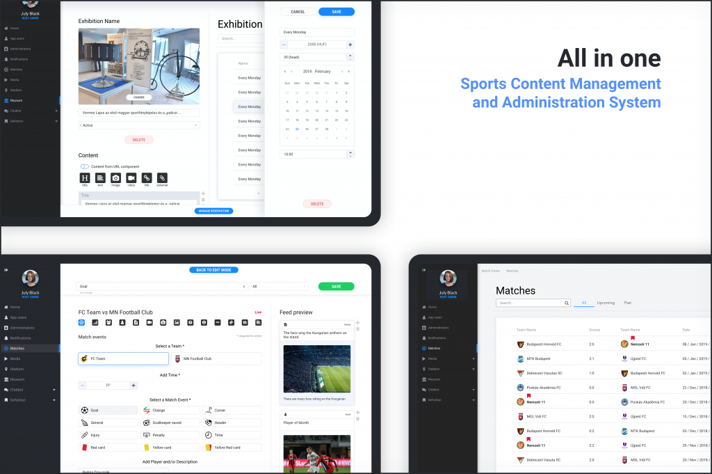Sports Content Management System